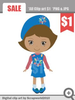 Girl Scout Daisy Clipart Image