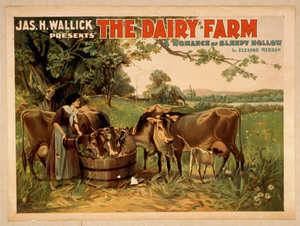 Jas. H. Wallick Presents The Dairy Farm A Romance Of Sleepy Hollow By Eleanor Merron. Image