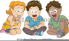 Clipart Of A Child Sitting Down Image