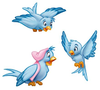 Animated Blue Bird Clipart Image