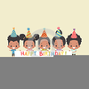 African American Happy Birthday Clipart Image