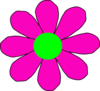Pink With Green Daisy Clip Art