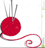 Clipart Yarn And Knitting Needles Image