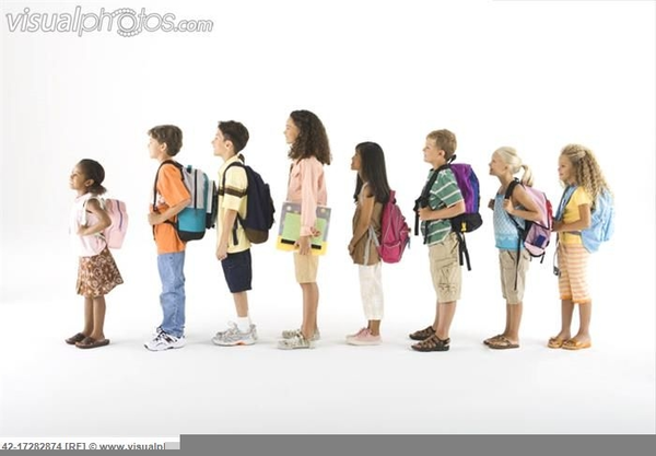 Classroom Line Up Ideas ~ Children lining up clipart free images at clker