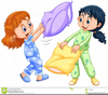Girls Playing Clipart Image