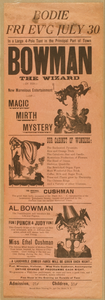 Bowman The Wizard In His New Marvelous Entertainment Of Magic, Mirth, Mystery Image