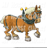 Royalty Free Draft Horse Clipart Image