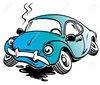 Clipart Of A Wrecked Car Image