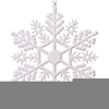 Black And White Clipart Snow Flakes Image
