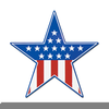 Military Blue Star Clipart Image