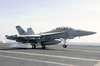 An F/a-18f Super Hornet Makes An Arrested Landing On The Flight Deck Aboard Uss Nimitz (cvn 68) Image