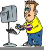Playing Computer Games Clipart Image