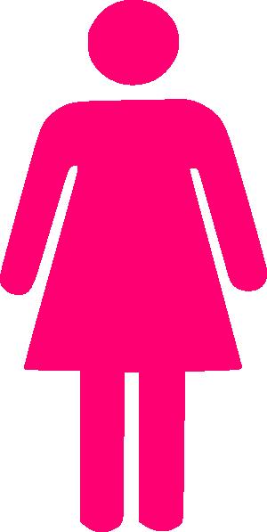 woman silhouette pink clip art at clkercom vector clip