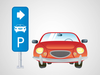 Car In Parking Lot Clipart Image