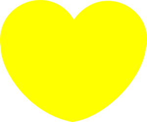 Simple Yellow Heart Shape Clip Art