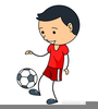 Boy Playing Soccer Clipart Image