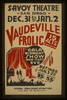 Vaudeville Frolic  Gala Midnight Show New Year S Eve : 15 Acts. Image
