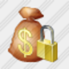 Icon Money Bag Locked Image