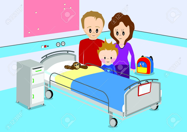 Child Hospital Bed Clipart Image