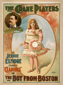 The Crane Players, Jennie Elmore As  Claribel  In The Boy From Boston Image