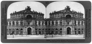 Royal Operahouse, One Of The Finest Buildings In Dresden--s. Entrance Facing Square--germany Image