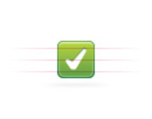 Moi Button Green Check Image