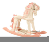 Pink Rocking Horse Clipart Image
