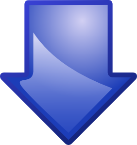 Arrow Blue Down Clip Art