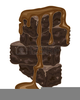 Big Brownie Birthday Clipart Image