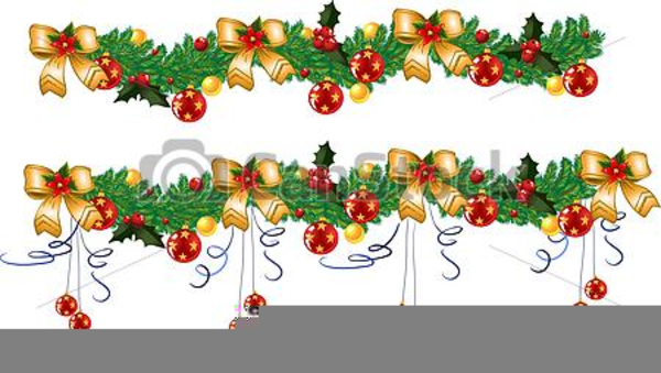 Weihnachts Cliparts Girlande Free Images At Clkercom Vector