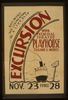 Excursion  Wpa Federal Theatre Playhouse, Tulane & Miro Sail In And See Living Actors In A Live Play. Image