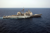 The Guided Missile Cruiser Uss San Jacinto (cg 56) Underway Conducting Combat Missions In Support Of Operation Iraqi Freedom. Image