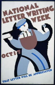 National Letter Writing Week, Oct. 1-7 That Letter Will Be Appreciated. Image