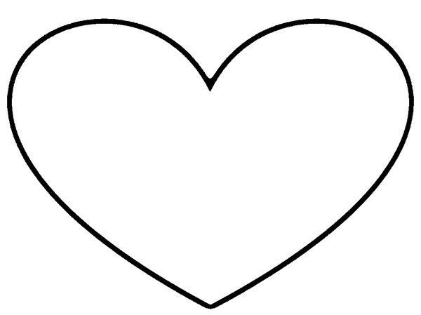 Heart outline stencil free images at vector for Full page heart template
