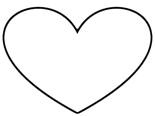 Heart Outline Stencil | Free Images at Clker.com - vector clip art ...