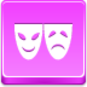 Free Pink Button Theater Symbol Image