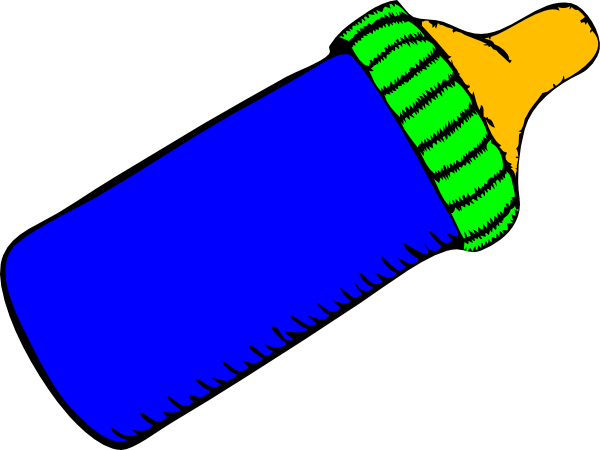 baby bottle blue green clip art at clker com vector clip art rh clker com Baby Feet Clip Art Baby Girl Clip Art