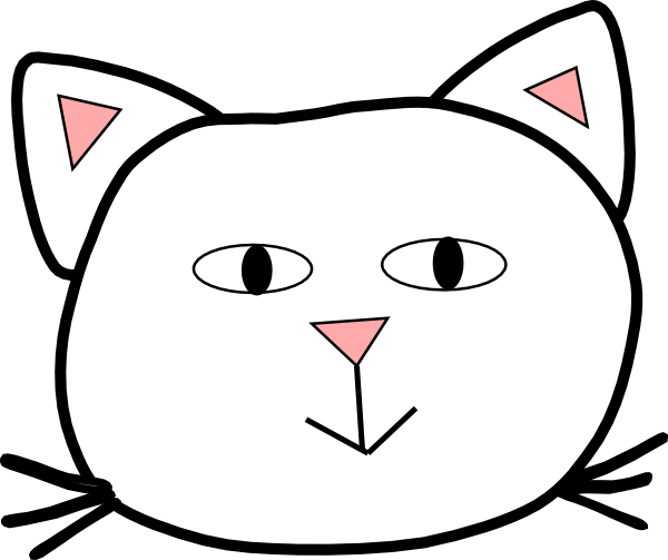 Basic Cat Face Clip Art at Clker.com - vector clip art ...