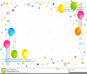 Balloons border. Clipart and free images