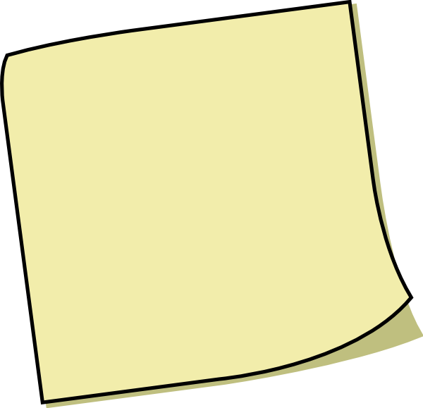 Yellow Sticky Note Clip Art at Clker.com - vector clip art ...