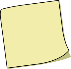 Yellow Sticky Note Clip Art at Clker.com - vector clip art ...