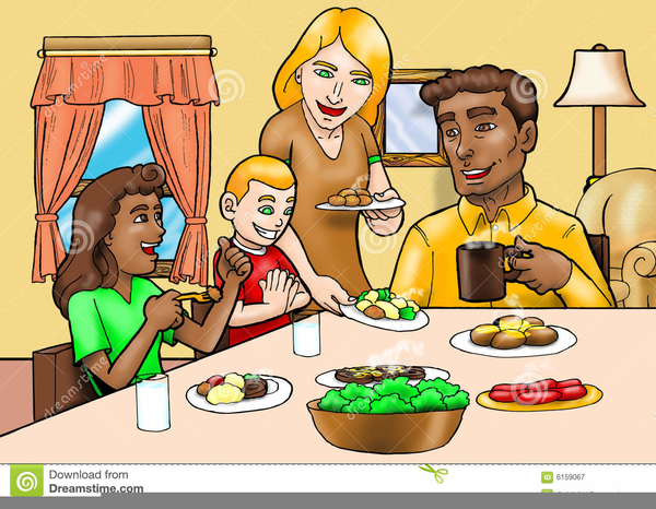 Clipart Friends Eating Together Free Images At Clker Com Vector