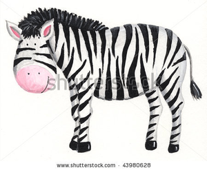 Shutterstock Zebra Stock Photo Acrylic Illustration Of Zebra Image