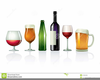 Wine Bottles And Glasses Clipart Image