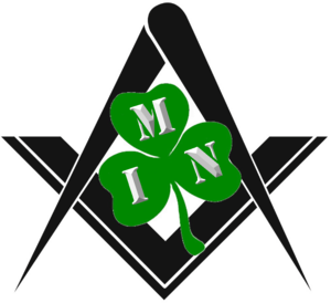 Irish Masonic Network Square Compass Shamrock Image
