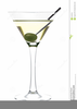 Clipart Martini Glass With Olive Image