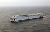 The Hospital Ship Usns Comfort (t-ah 20) Steams Through The Waters While Deployed  To The Arabian Gulf. Image