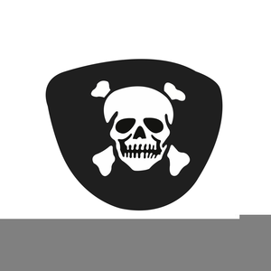 Black pirate eye patch vector isolated on white royalty free.
