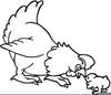 Free Chicken Clipart Black And White Image