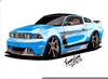 Cars Drawings Mustang Image
